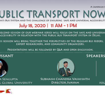 Join us for the second session in the webinar series 'Public Transport Now!' on July 18